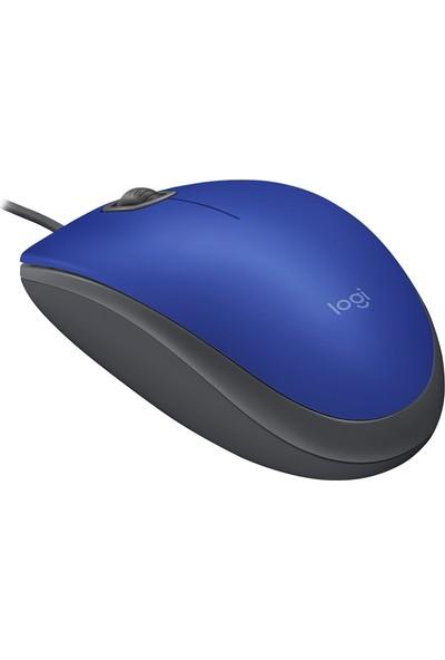 Logitech M110 Sessiz Optik USB Mouse-Mavi