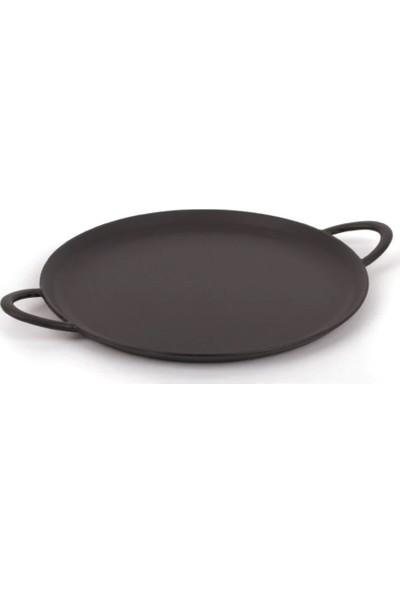 Sürel Demir Döküm Büyük Pizza Tavası 38 cm Siyah Emayeli