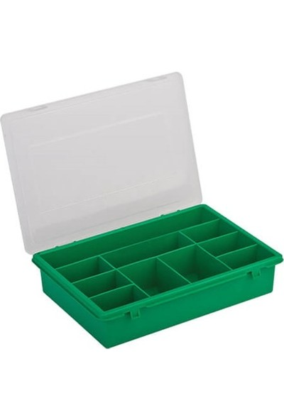 Hipaş Plastik - 10 Bölmeli Kapaklı Organizer Kutu - 610 (5 Adet )
