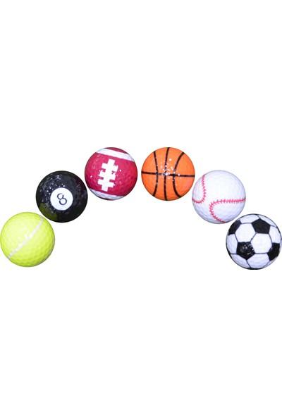 MiniGolf35 Spor Temalı Golf Topu - 6 Adet
