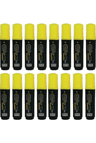 Lineplus Power Line 700 Fosforlu Kalem Sarı 16'lı