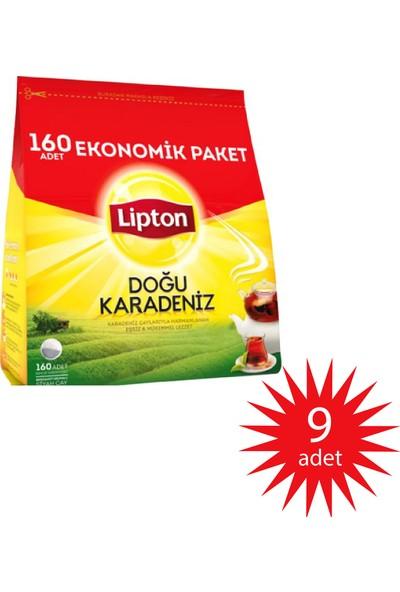 Lipton Doğu Karadeniz Demlik Poşet Çay 160'lı Bergamot Aromalı 9'lu Paket 9 X 160 1440 Demlik Poşet
