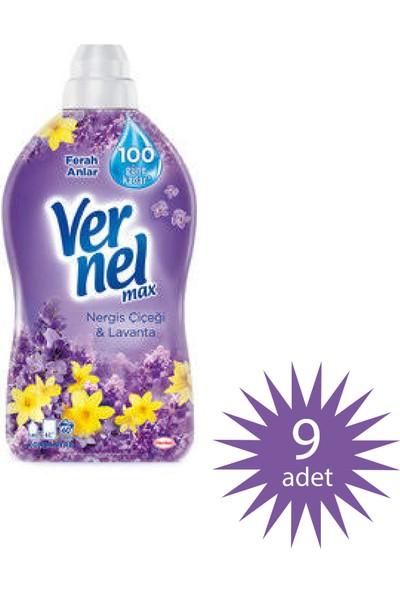Vernel Max Konsantre Çamaşır Yumuşatıcısı Nergis Çiçeği ve Lavanta Yumuşatıcı 1440 ml 60 Yıkama 9'lu Paket 540 Yıkama
