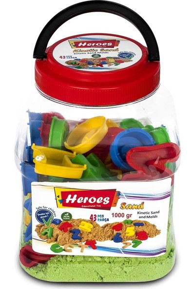 Heroes Heroes, Pet Kutulu Harf ve Rakamlar+Kinetik Kum (1000GR.) KUM-024