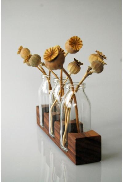 Umutpark Umuthomedesing Ahşap Çiçeklik ve Mumluk