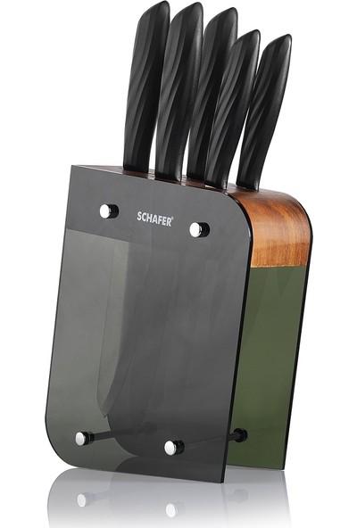 Schafer Solide 6 Parça Bıçak Seti Siyah SIY06