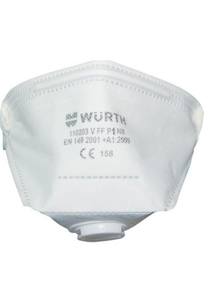 Würth P1 Ventilli Katlanabilir Solunum Maskesi Beyaz
