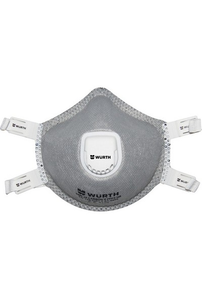 Würth P2 Ventilli Karbonlu Profesyonel Solunum Maskesi Açık Gri