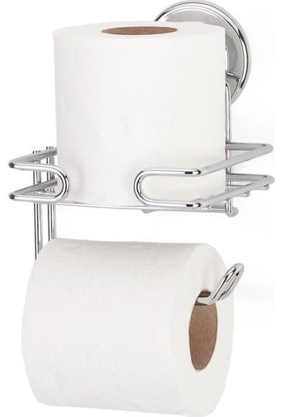 Vakumlu Tuvalet Kağıdı Askısı Yedekli 2'li