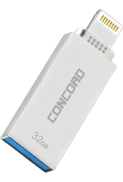 Concord 32gb İphone 3,0 Metal Otg Usb Flash Bellek C-OTGL32