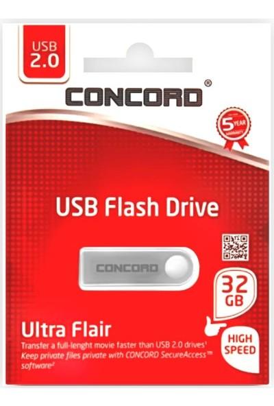 Concord 32GB Metal 2.0 Flash Bellek C-U32