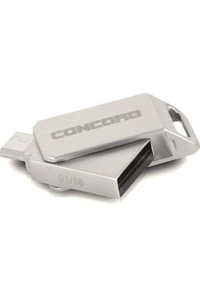 Concord 16gb 2.0 Micro Otg Usb Flash Bellek Metal C-OTGT16