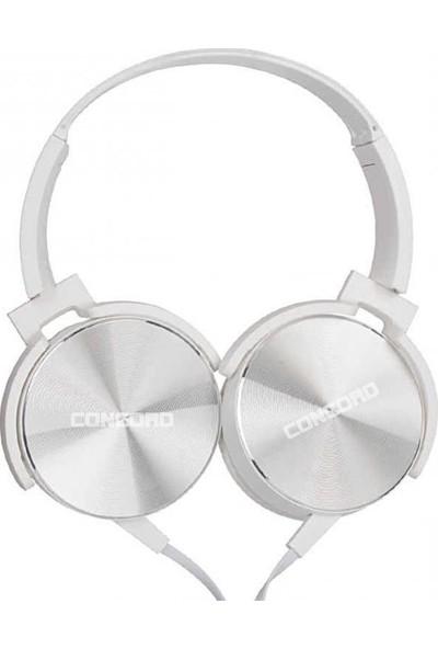 Concord C-908 Kulak Üstü Kulaklık - Beyaz