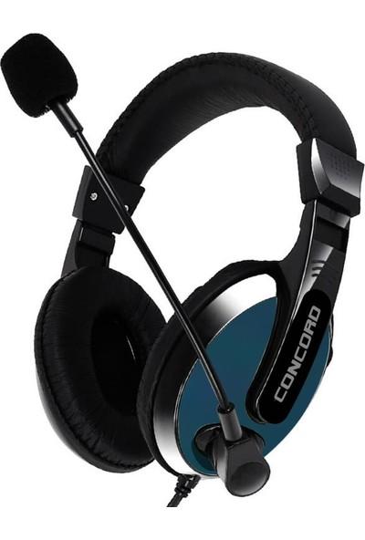 Concord C-916 Kulak Üstü Oyuncu Kulaklık - Lacivert