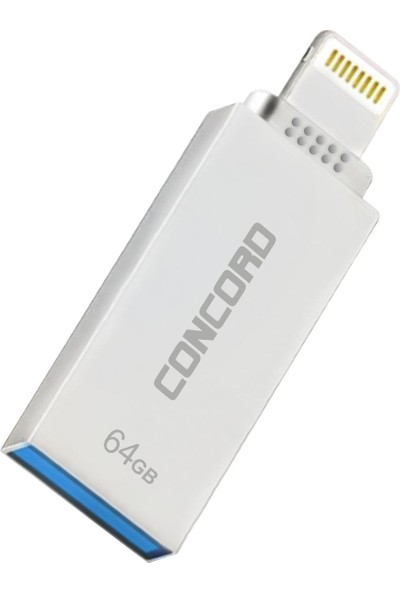 Concord 64gb İphone 3,0 Metal Otg Usb Flash Bellek C-OTGL64