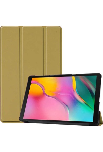 Case Street Samsung Galaxy Tab A 8.0 2019 T 290 Kılıf Smart Cover Standlı Kapaklı Gold