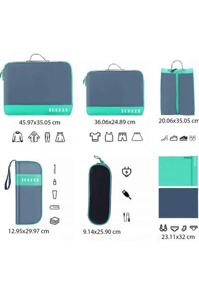 Family 7 Parça Çok Fonksiyonlu Valiz Dolap Çekmece Bagaj Düzenleyici