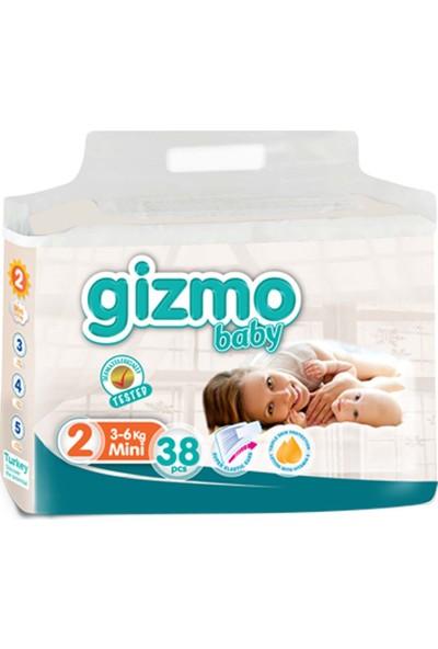 Gizmo Paket Bebek Bezi 3-6 kg 2 No 152'li 38 x 4