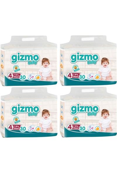 Gizmo Paket Bebek Bezi 7-18 Kg 4 No 120'li 30 x 4