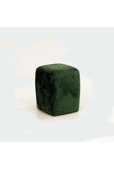 Ndesign Mini Kare Puf Kadife Yeşil