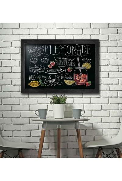 Zephome Dekoratif Yazı Tahtası Retro Kara Tahta 60 x 100 cm Siyah