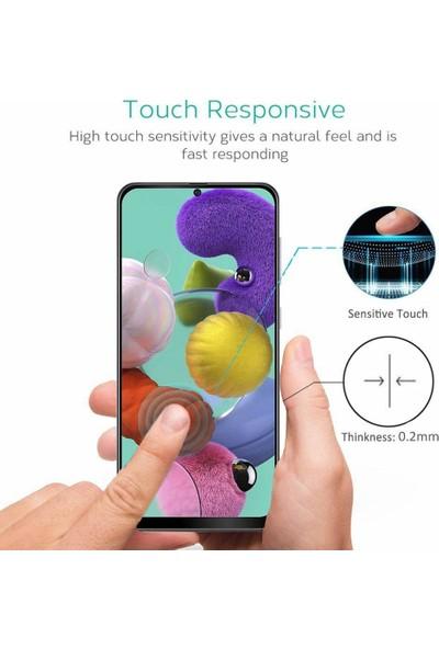 Quse Samsung Galaxy A51 Tam Kaplayan 5d Ekran Koruyucu Cam