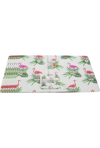 Bambum Cuberta 6'lı Amerikan Servis ve Bardak Altlığı Flamingo