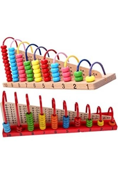 Mukabo Ahşap Abaküs Hesaplama Seti Eğitici Ahşap Çocuk Oyuncak