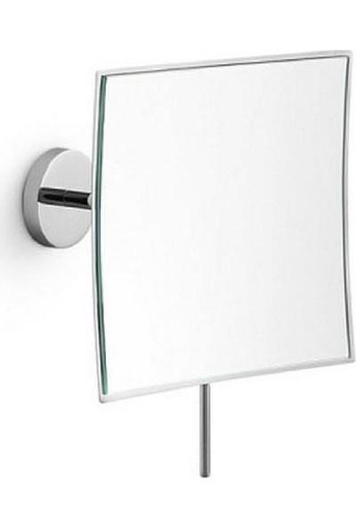 Lineabeta 3x Büyüteçli Kare Makyaj Aynası, Krom