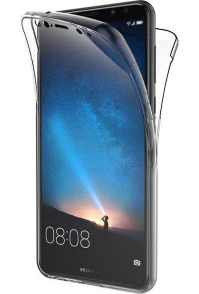Kılıfreyonum Huawei Mate 10 Lite Ön Arka Şeffaf 360 Derece Tam Korumalı Kılıf