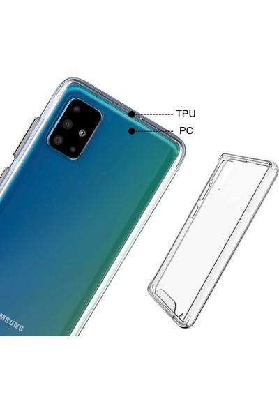 Kılıfist Samsung Galaxy A51 Kılıf Zore Tam Korumalı Gard Sert Silikon Kapak Şeffaf
