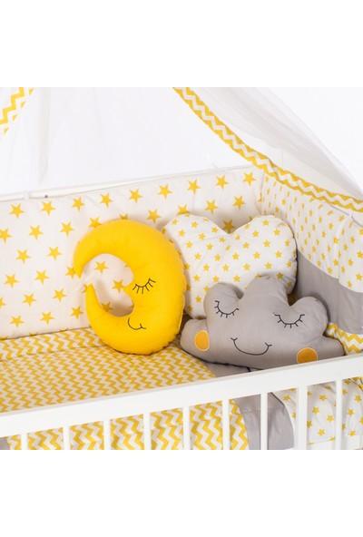 Heyner 60 x 120 cm Bebek Uyku Seti Takımı 10 Parça - Sarı Yıldız