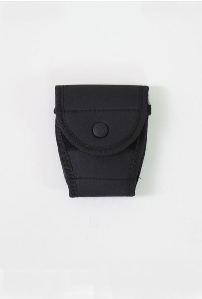Moda Canel Güvenlik Kumaş Kapalı Kelepçe Kılıfı Siyah