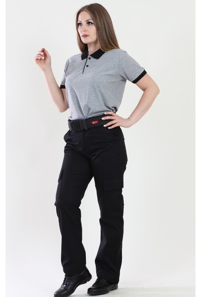 Moda Canel Kadın Gri Güvenlik Tshirt