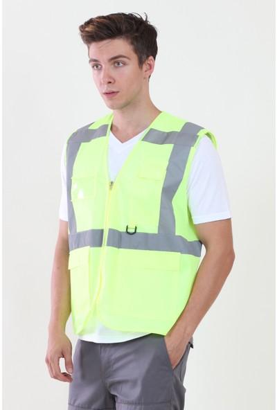 Moda Canel Mühendis Yelek Sarı XL