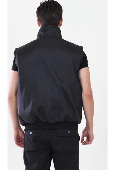 Moda Canel Pilot Mont 2 Renk Çıkarılabilir Kollu Siyah