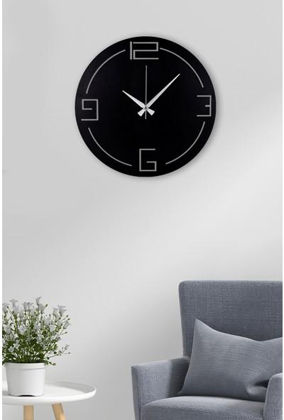 Muyika Bersha Metal Siyah Duvar Saati 41 x 41 cm