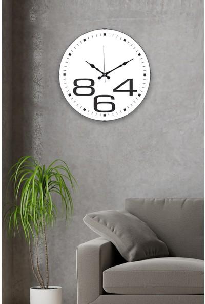 Muyika 864 Oval Ön Kısım Beyaz 36 cm Duvar Saati