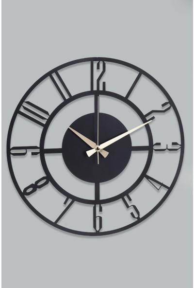 Muyika Bunnela Metal Siyah Duvar Saati 41 x 41 cm