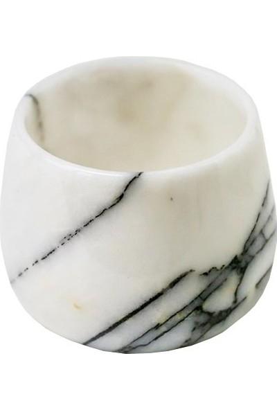 Leylak Doğal El Yapımı Mermer Fincan