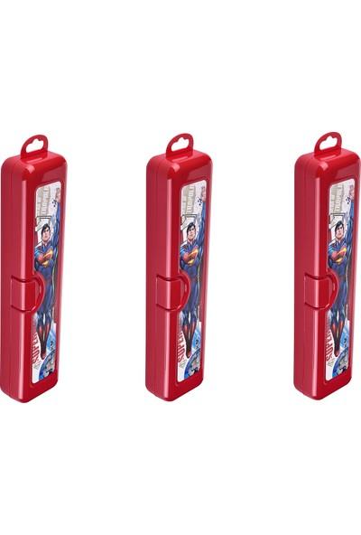 Tuffex Superman Hobi ve Diş Fırçası Kutusu 3'lü Set