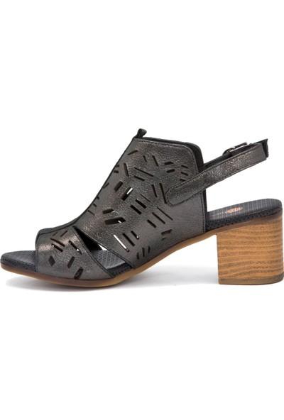 Mammamia D20Ys 1285 Platin Terlik Sandalet