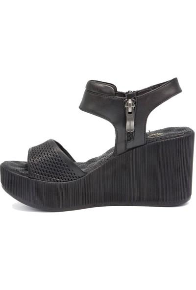 Mammamia D20Ys 1510 Siyah Terlik Sandalet