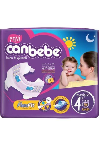 Canbebe Jumbo Maxi Plus Bebek Bezi 34'lü 4+ Beden