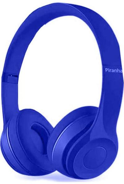 Piranha 2102 Kulak Üstü Kablolu Mikrofonlu Kulaklık Mavi