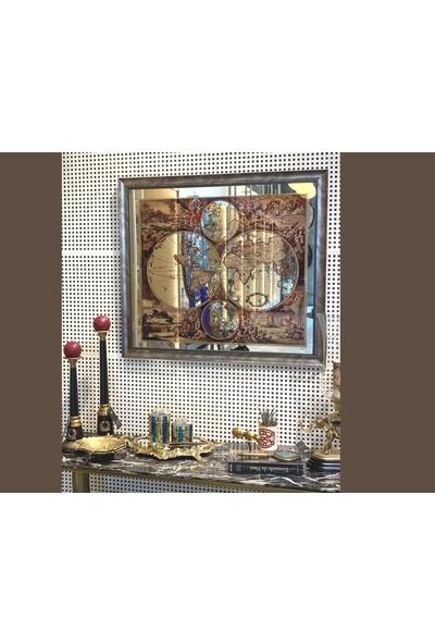 Ali Yıkın Haritalı Duvar Aynası