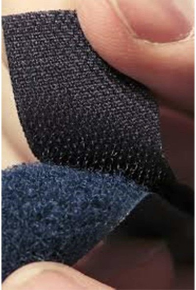 Ecovel Cırt Bant 1 m Çift Taraflı Siyah Cırt Cırt Bant En 2 cm