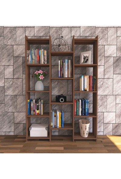 Nur Mobilya Alisa Modern Kitaplık Ceviz