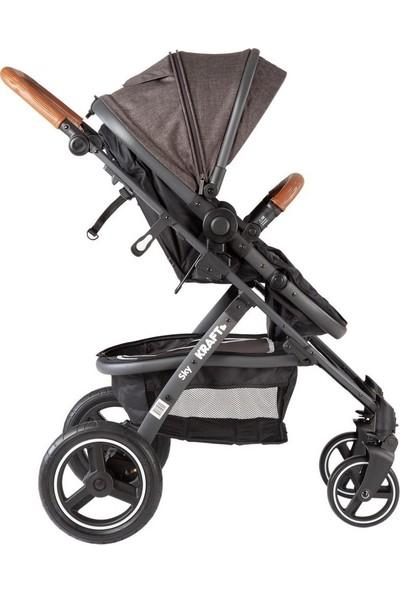 Kraft Sky Travel Sistem Bebek Arabası - Açık Gri