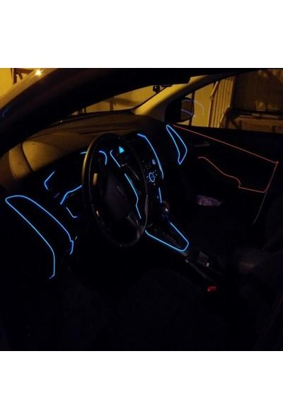 Carub Araç İçi Neon Led - Şerit Led Neon Mavi 2 m